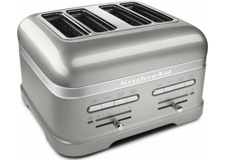 KitchenAid Sugar Pearl Silver 4-Slice Toaster - KMT4203SR