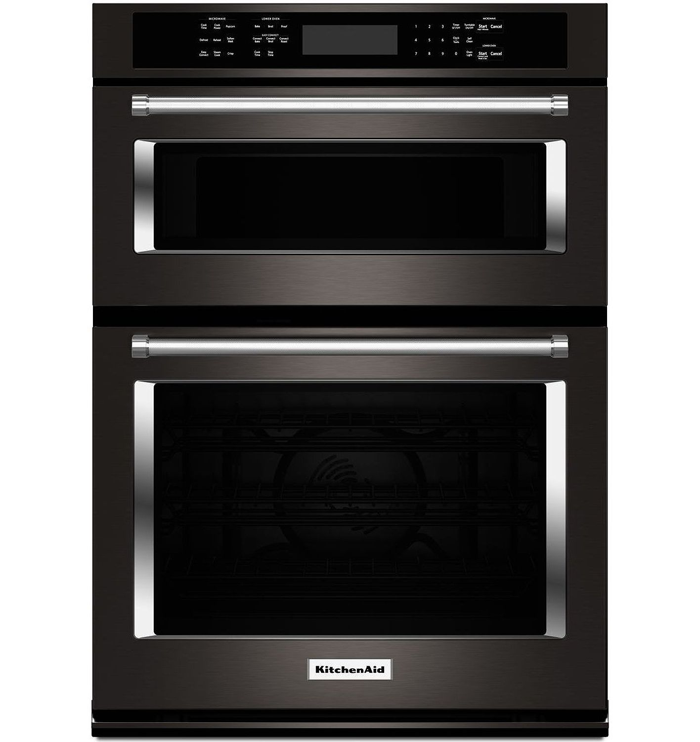 Kitchenaid 30 Black Stainless Combination Convection Wall Oven