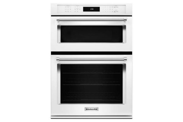 """Large image of KitchenAid 30"""" White Built-In Microwave Combination Oven  - KOCE500EWH"""