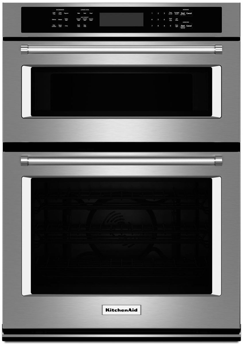 Kitchenaid 27 Stainless Steel Electric Built In Microwave Combination Oven Koce507ess