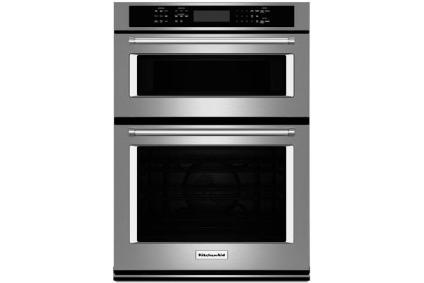 """KitchenAid 27"""" Stainless Steel Electric Built-In Microwave Combination Oven - KOCE507ESS"""