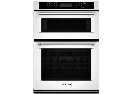 "KitchenAid 27"" White Electric Built-In Microwave Combination Oven - KOCE507EWH"
