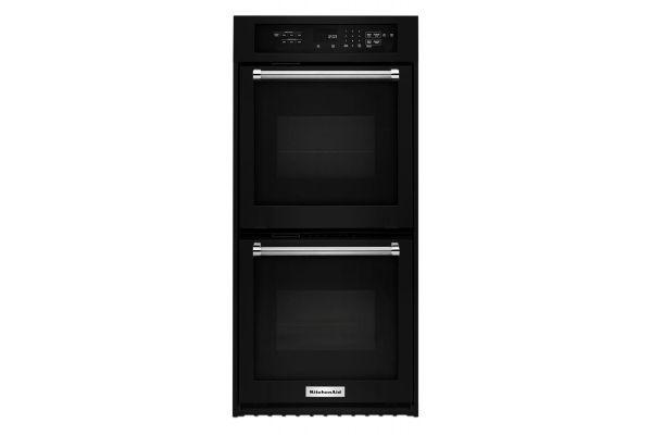"KitchenAid 24"" Black Double Wall Oven - KODC304EBL"