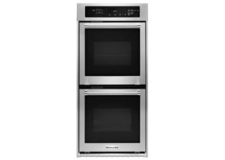 "KitchenAid 24"" Stainless Steel Double Wall Oven - KODC304ESS"
