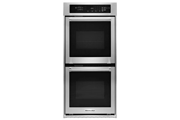"""Large image of KitchenAid 24"""" Double Wall Oven in Stainless Steel - KODC304ESS"""