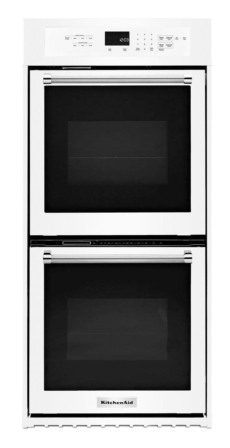 In Kitchen Aid Double Wall Oven White