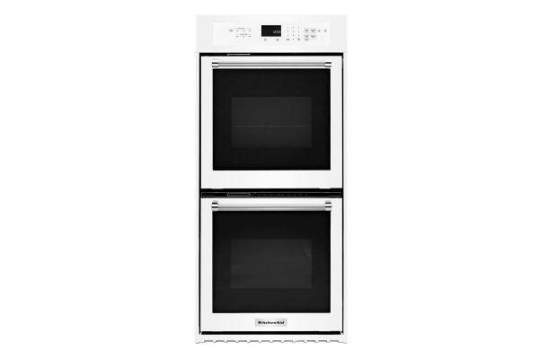 """KitchenAid 24"""" White Double Wall Oven - KODC304EWH"""