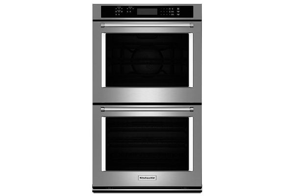 """Large image of KitchenAid 27"""" Stainless Steel Double Wall Oven - KODE307ESS"""