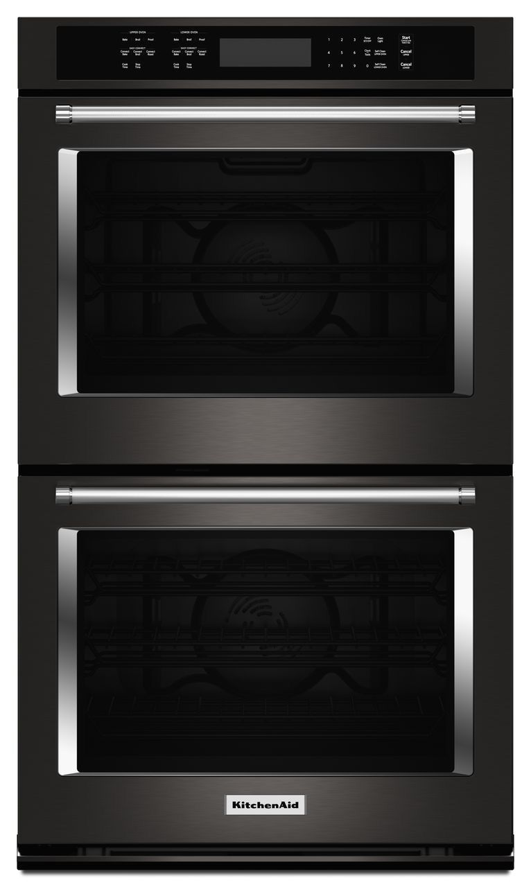 Kitchenaid Black Stainless Double Wall Oven Kode500ebs