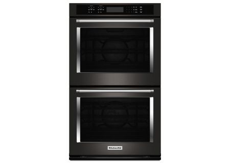 "KitchenAid 30"" Black Stainless Double Wall Oven  - KODE500EBS"