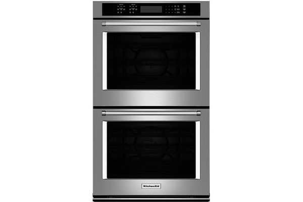 "KitchenAid 30"" Stainless Steel Double Wall Oven - KODE500ESS"