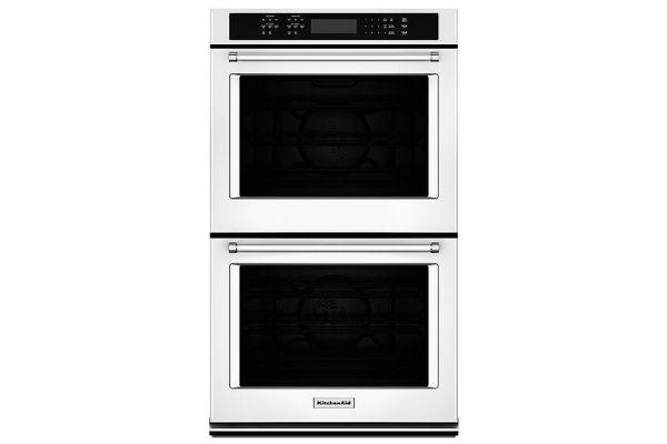 """KitchenAid 27"""" White Double Wall Oven - KODE507EWH"""