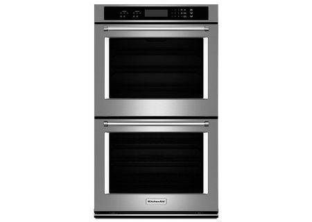"KitchenAid 30"" Stainless Steel Double Wall Oven - KODT100ESS"