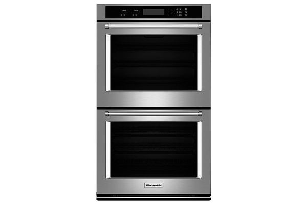 """KitchenAid 27"""" Stainless Steel Double Wall Oven - KODT107ESS"""