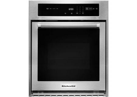 "KitchenAid 24"" Stainless Steel Single Wall Oven - KOSC504ESS"