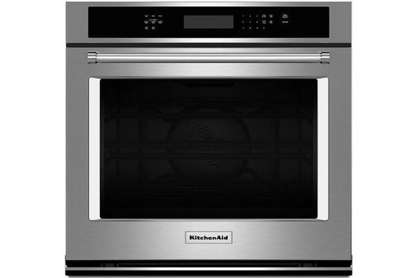"KitchenAid 30"" Stainless Steel Single Wall Oven - KOSE500ESS"