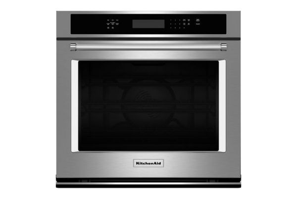"KitchenAid 27"" Stainless Steel Electric Single Wall Oven  - KOSE507ESS"