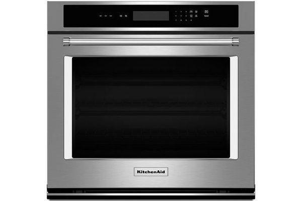 """Large image of KitchenAid 30"""" Stainless Steel Single Wall Oven - KOST100ESS"""