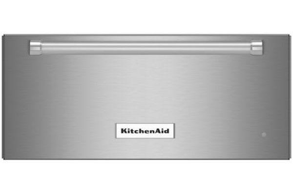 "Large image of KitchenAid 24"" Stainless Steel Slow Cook Warming Drawer - KOWT104ESS"