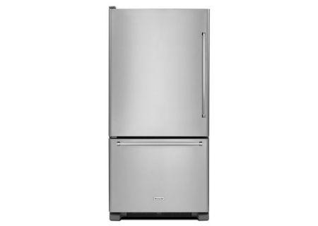 KitchenAid 19 Cu. Ft. Stainless Steel Bottom Mount Refrigerator - KRBL109ESS