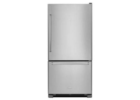 KitchenAid 19 Cu. Ft. Stainless Steel Bottom Mount Refrigerator  - KRBR109ESS