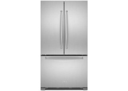 KitchenAid 20 Cu. Ft. Stainless Steel Counter-Depth French Door Refrigerator - KRFC300ESS