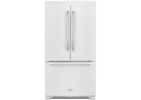 KitchenAid 20 Cu. Ft. White Counter-Depth French Door Refrigerator - KRFC300EWH