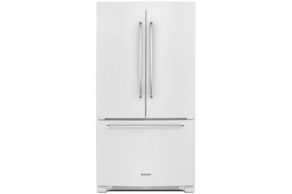 KitchenAid 20 Cu. Ft. White Counter-Depth French Door Refrigerator - KRFC300EWH