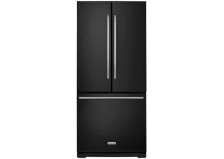 KitchenAid 20 Cu. Ft. Black French Door Bottom Freezer Refrigerator - KRFF300EBL