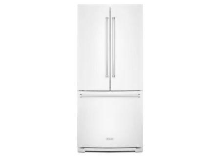 KitchenAid 20 Cu. Ft. White French Door Bottom Freezer Refrigerator  - KRFF300EWH
