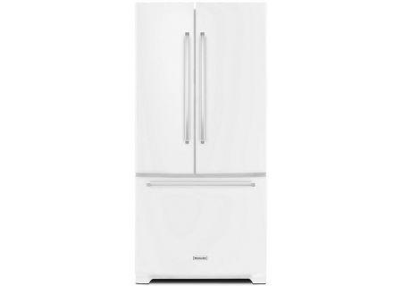 KitchenAid 22 Cu. Ft. White French Door Refrigerator - KRFF302EWH