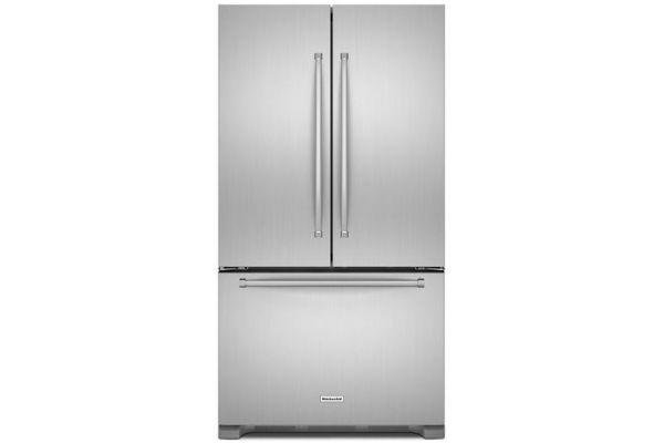 KitchenAid 25 Cu. Ft. Stainless Steel French Door Refrigerator - KRFF305ESS
