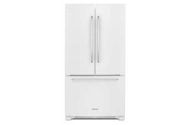KitchenAid 25 Cu. Ft. White French Door Refrigerator - KRFF305EWH