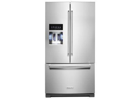 """KitchenAid 36"""" PrintShield Stainless Steel French Door Refrigerator - KRFF507HPS"""