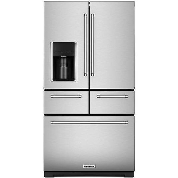 Kitchenaid Multi Door Stainless Steel French Refrigerator Krmf706ess