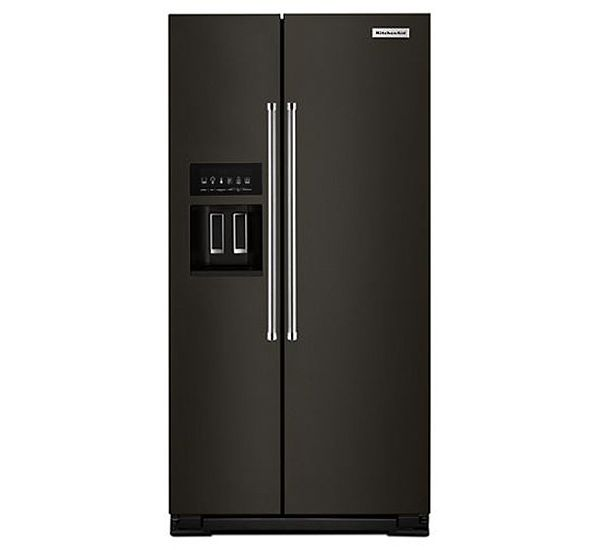 KitchenAid Black Stainless Steel Counter-Depth Side-By-Side Refrigerator