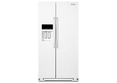KitchenAid - KRSF505EWH - Side-by-Side Refrigerators