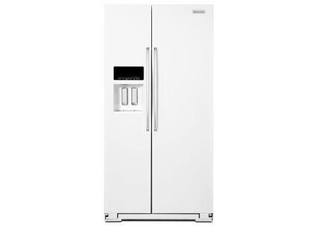 Kitchenaid White Side By Side Refrigerator Krsf505ewh