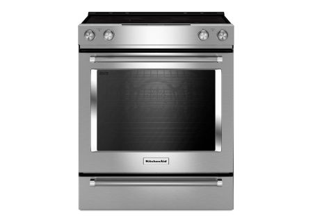 "KitchenAid 30"" Stainless Steel Electric Slide-In Convection Range - KSEB900ESS"