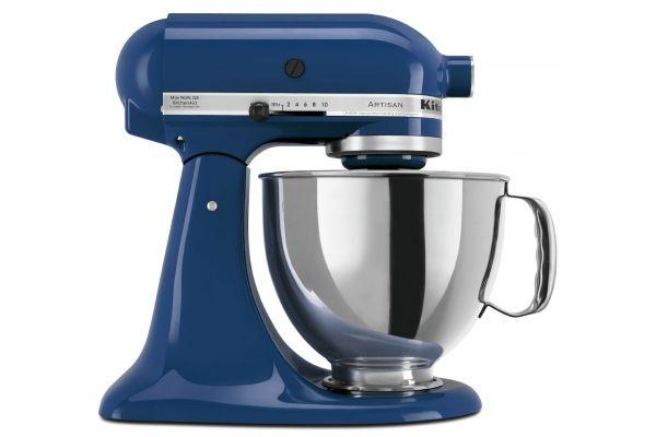 Large image of KitchenAid Artisan Series Blue Willow Stand Mixer - KSM150PSBW