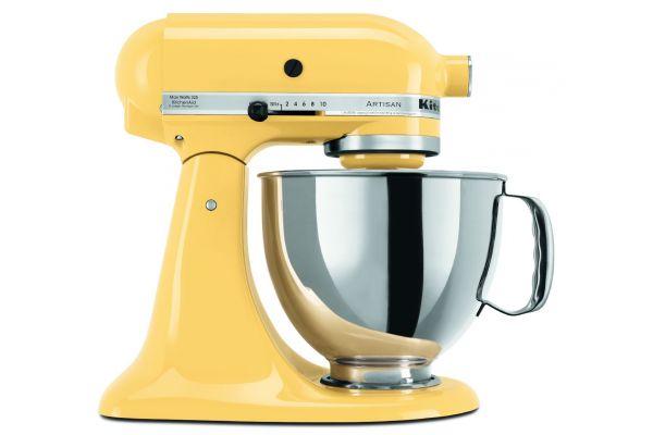Large image of KitchenAid Artisan Stand Mixer Yellow - KSM150PSMY