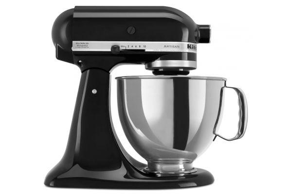 Large image of KitchenAid Artisan Onyx Black Stand Mixer - KSM150PSOB
