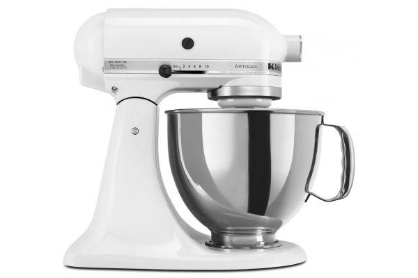 Large image of KitchenAid Artisan Series White Stand Mixer - KSM150PSWH