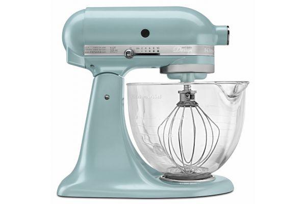 Large image of KitchenAid Artisan Design Blue Stand Mixer - KSM155GBAZ