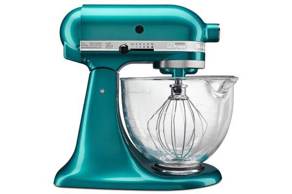 KitchenAid Artisan Design Series Cristal Marino Green Stand Mixer - KSM155GBSA