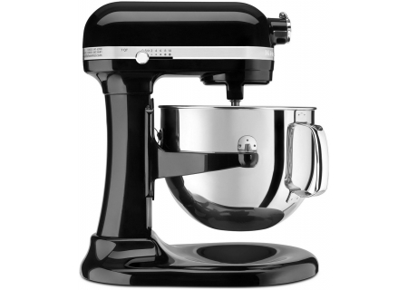 KitchenAid Bowl Lift Black Stand Mixer - KSM7586POB