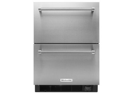 Kitchenaid Stainless Refrigerator Drawers Kudf204esb