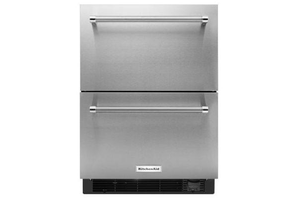 "KitchenAid 24"" Stainless Steel Refrigerator And Freezer Drawers  - KUDF204ESB"