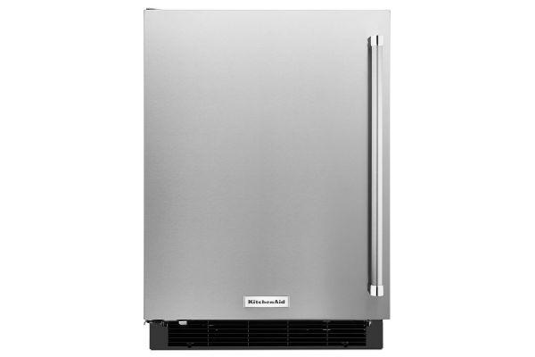 "Large image of KitchenAid 24"" Stainless Steel Undercounter Refrigerator - KURL104ESB"