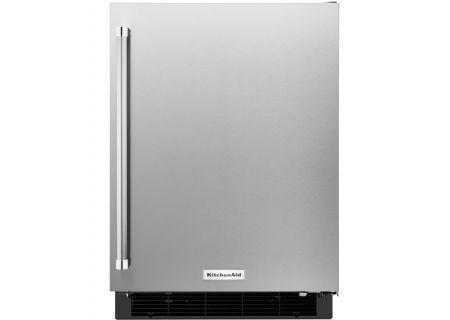 """KitchenAid 24"""" Stainless Steel Undercounter Refrigerator - KURR104ESB"""